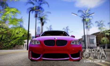 BMW M5 E60 Huracan para GTA San Andreas traseira esquerda vista