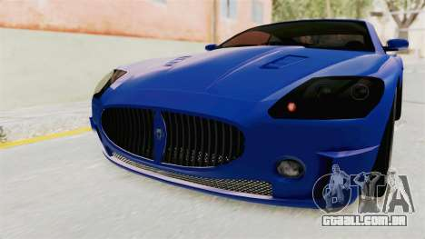 GTA 5 Ocelot F620 IVF para GTA San Andreas vista superior