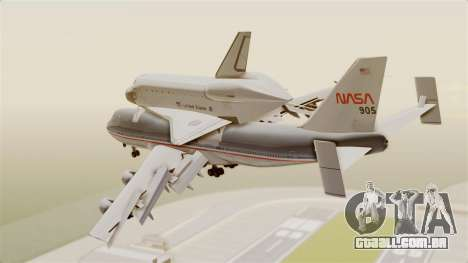 Boeing 747-123 Space Shuttle Carrier para GTA San Andreas esquerda vista