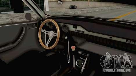 Dacia 1300 Stance Police para GTA San Andreas vista interior
