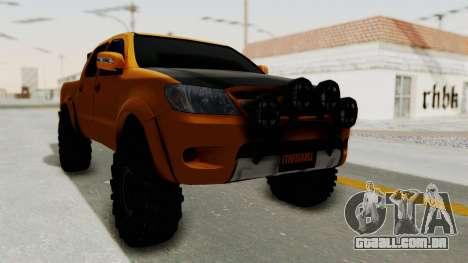 Toyota Hilux 2010 Off-Road Swag Edition para GTA San Andreas traseira esquerda vista