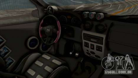 Dacia Logan Loco Tuning para GTA San Andreas vista interior