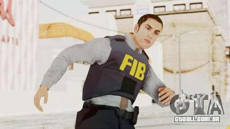 GTA 5 F.I.B. Ped para GTA San Andreas