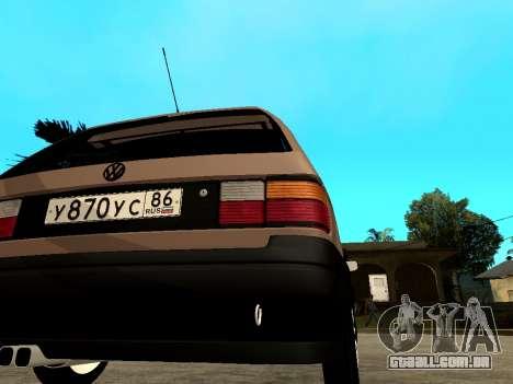 Volkswagen Passat B3 Variant para GTA San Andreas vista direita
