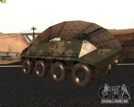 BTR 60 PA para GTA San Andreas vista traseira