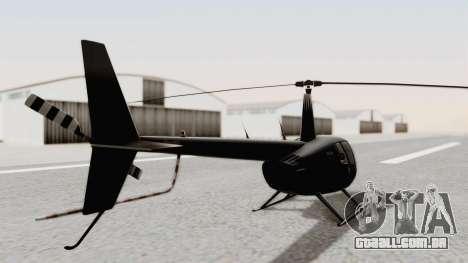 Helicopter de la Policia Nacional del Paraguay para GTA San Andreas traseira esquerda vista