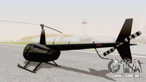 Helicopter de la Policia Nacional del Paraguay para GTA San Andreas esquerda vista