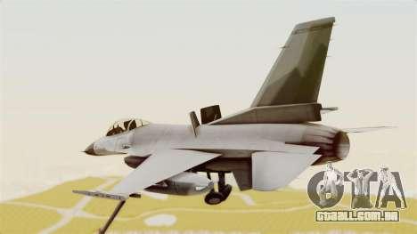 F-16 Fighting Falcon para GTA San Andreas vista direita