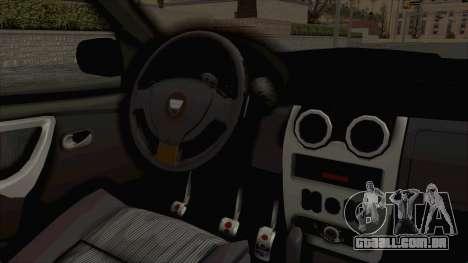 Dacia Duster 2010 Tuning para GTA San Andreas vista interior