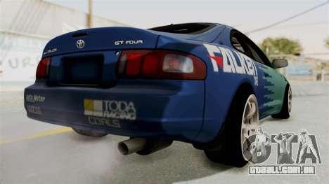 Toyota Celica GT Drift Falken para GTA San Andreas traseira esquerda vista