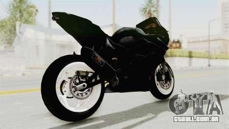 Kawasaki Ninja 250R Black Cobra RnB Anak Jalana para GTA San Andreas traseira esquerda vista