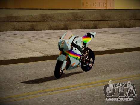 Yamaha YZR M1 2016 Rainbow Dash para GTA San Andreas