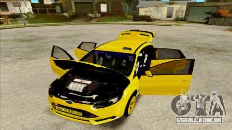 Ford Focus Taxi para GTA San Andreas traseira esquerda vista
