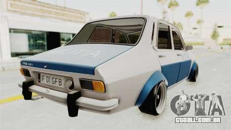 Dacia 1300 Stance Police para GTA San Andreas esquerda vista