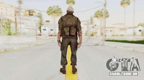 COD Black Ops 2 Hudson Commando para GTA San Andreas terceira tela