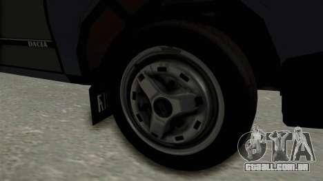Dacia 1310 Funingi Taraneasca para GTA San Andreas vista traseira