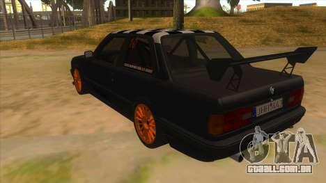 BMW 325i Turbo para GTA San Andreas traseira esquerda vista