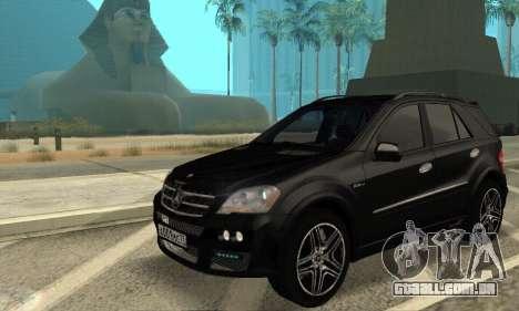 Mercedes-Benz ML 63 AMG para GTA San Andreas vista traseira