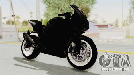 Kawasaki Ninja 250R Black Cobra RnB Anak Jalana para GTA San Andreas vista direita