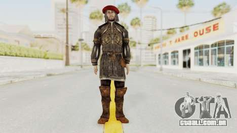 AC Brotherhood - Leonardo Da Vinci Fixed para GTA San Andreas segunda tela