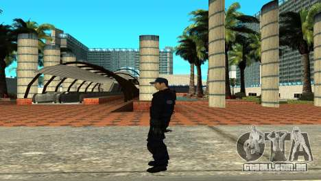 Police SWAT Skin for GTA San Andreas para GTA San Andreas por diante tela