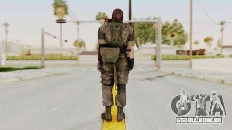 MGSV The Phantom Pain Venom Snake No Eyepatch v6 para GTA San Andreas terceira tela