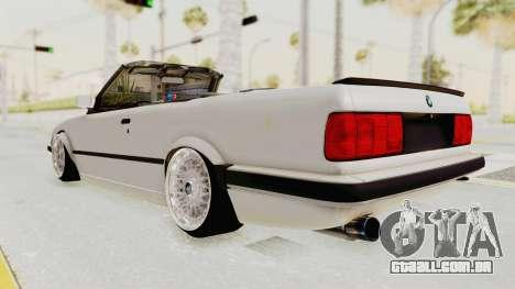 BMW 316i E30 para GTA San Andreas esquerda vista