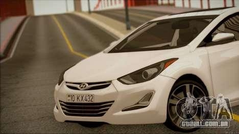 Hyundai ELANTRA 2015 STOCK para GTA San Andreas vista direita