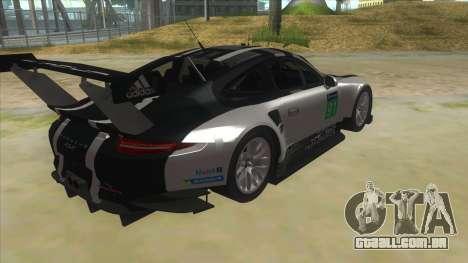 2016 Porsche 911 RSR para GTA San Andreas vista direita