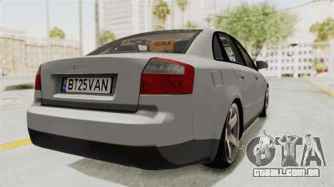 Audi A4 2002 Stock para GTA San Andreas esquerda vista