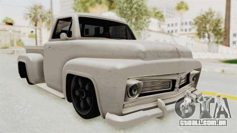 GTA 5 Slamvan Stock para GTA San Andreas vista direita