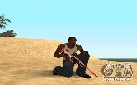 Rifle Cyrex para GTA San Andreas sétima tela