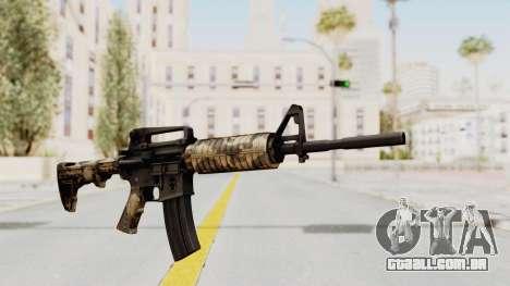 HD M4 v3 para GTA San Andreas segunda tela
