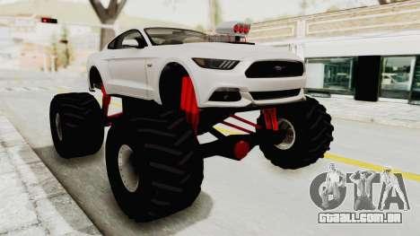 Ford Mustang GT 2015 Monster Truck para GTA San Andreas