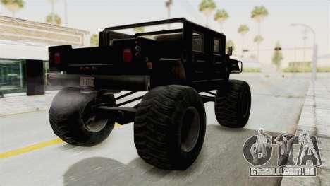 Hummer H1 Monster Truck TT para GTA San Andreas esquerda vista