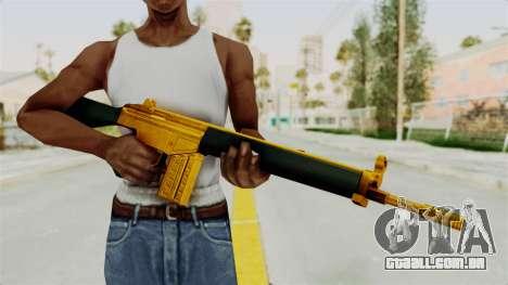 G3A3 Gold para GTA San Andreas terceira tela
