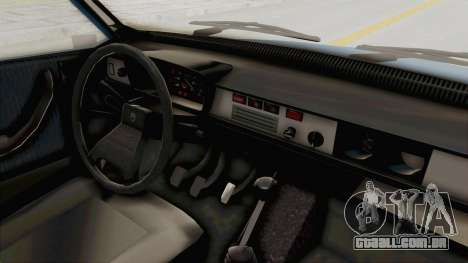 Dacia 1310 MLS 1988 Stock para GTA San Andreas vista interior