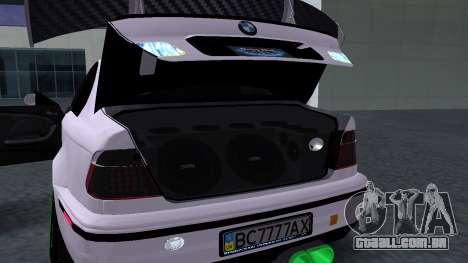 BMW M3 E46 JDM para GTA San Andreas vista traseira