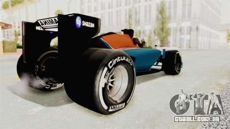 Rio Haryanto 88 F1 Manor Racing para GTA San Andreas esquerda vista