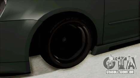 Volkswagen Golf MK5 JDM para GTA San Andreas vista traseira