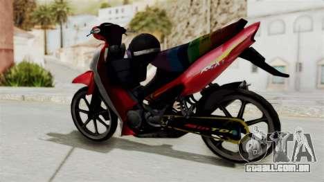 Suzuki RGX 120 para GTA San Andreas traseira esquerda vista
