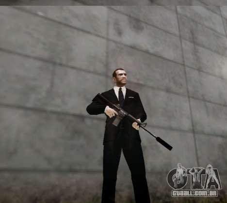 O silenciador de arma para GTA 4 por diante tela