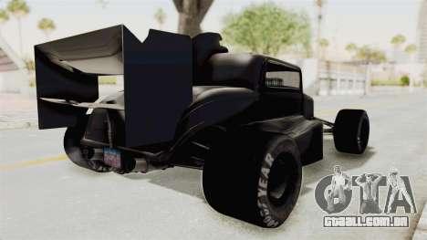 Ford 32 F1 para GTA San Andreas traseira esquerda vista