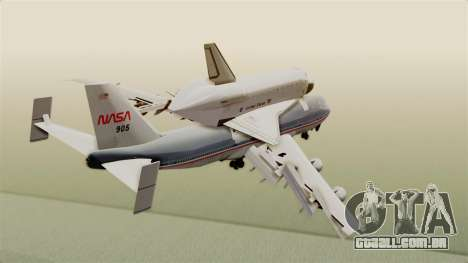 Boeing 747-123 Space Shuttle Carrier para GTA San Andreas vista direita