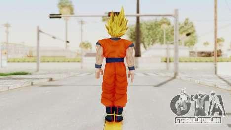 Dragon Ball Xenoverse Goku SSJ1 para GTA San Andreas terceira tela