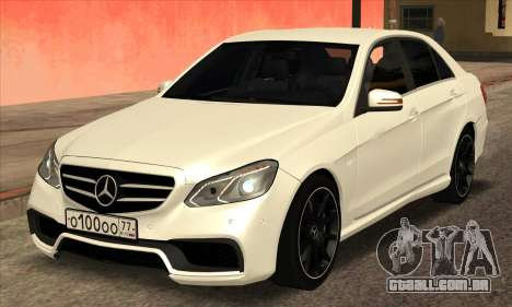 Mercedes-Benz E63 AMG 2014 para GTA San Andreas