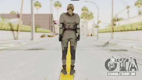 MGSV Phantom Pain Quiet Sniper Wolf para GTA San Andreas terceira tela