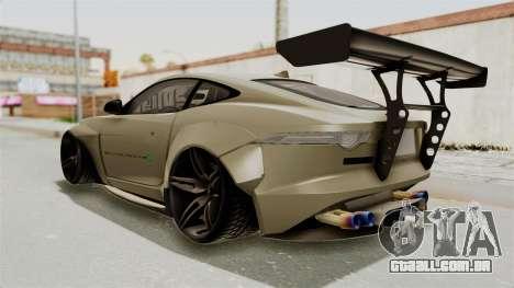 Jaguar F-Type L3D Store Edition para GTA San Andreas esquerda vista