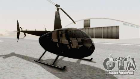 Helicopter de la Policia Nacional del Paraguay para GTA San Andreas vista direita