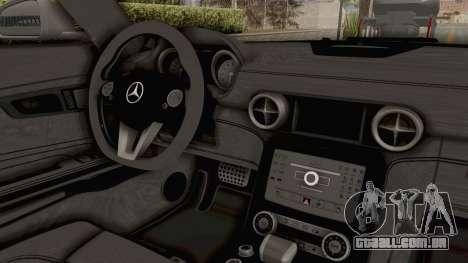 Mercedes-Benz SLS AMG 2010 Monster Truck para GTA San Andreas vista interior